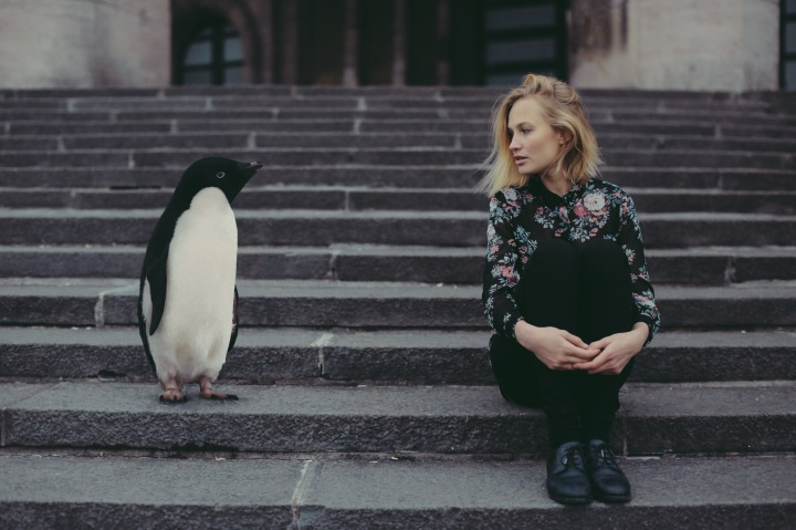 HelloSoul girl with penguin